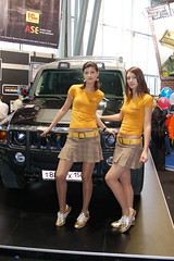 1C Hummer girls (Sergey Galyonkin) Tags: girls portrait girl expo russia moscow models games babes convention boothbabes 2007 boothbabe igromir