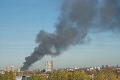 Fire at Stratford Olympic site about 1 hour after it started