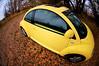 i ♥ my car (raspberrytart) Tags: car yellow vw bug d50 volkswagen interestingness nikon beetle fisheye explore newbeetle interestingness451 cmwdyellow