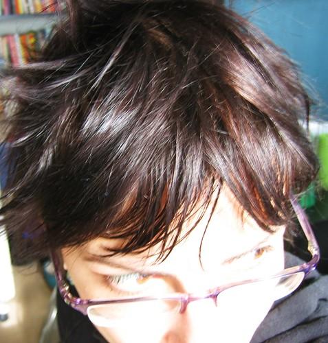 071118. new hair, new bedhead.