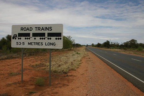 Road trains - 53.5 m long...You'd better watch your back then, Nicolai!