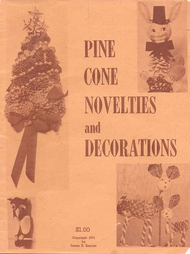 Pine Cone craft booklet, 1971