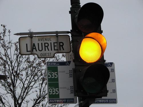 Avenue Laurier jaune