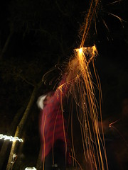 New Years fireworks in Chiefland, Florida, USA
