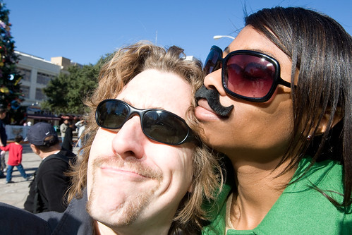 Matt & Krysdtal Fleeger with Chrismoustaches
