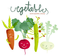 (malota) Tags: frutas verduras vegetables weird drawing mercado characters dibujo vector vegetales personajes extraas
