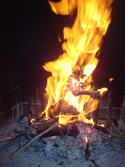 God sounds in the fire