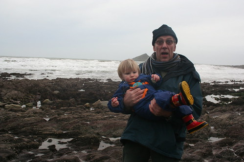 Grandad and Sam at Wembury