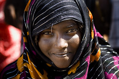 Afar woman smiling, Danakil, Ethiopia (Eric Lafforgue) Tags: africa portrait people beauty smile face smiling horizontal photography day veil african culture tribal beautifulwoman females tradition ethiopia tribe ethnic beautifulpeople adultsonly oneperson frontview confidence traditionalculture hornofafrica ethnology headandshoulders ethiopian afar eastafrica femininity traditionalclothing realpeople colorimage onewomanonly lookingatcamera teenagersonly traveldestination danakil 1people pastoralist indigenousculture africanculture onegirlonly mg0932 asaita assayta africantribalculture