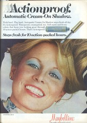 1970's Cream Eye Shadow (twitchery) Tags: vintage ads makeup 80s 70s eyeshadow maybelline vintageads vintagebeauty