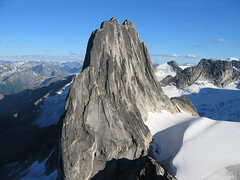 Snowpatch Spire as seen from Bugaboo Spire (pvalchev) Tags: climbing bugaboos alpineclimbing snowpatch snowpatchspire