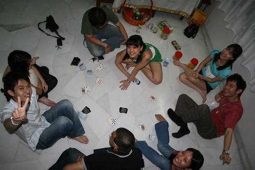 Us playing BlackJack