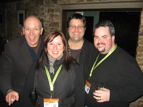 New Media Jim, Chris Heuer, Kristie Wells and me