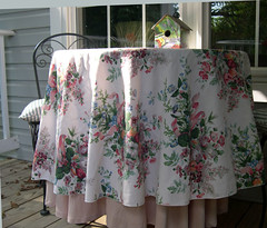 Round Vintage Shabby Chic Cloth