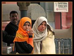 Cairo, Egypt. (Daniel Kliza) Tags: street girls portrait woman girl face museum scarf women veiled candid muslim egypt hijab streetphotography cairo streetphoto cafeteria cairomuseum