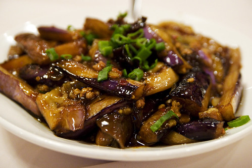 Sichuan style eggplant with meat bits