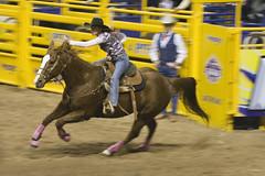 NFR Barrel Racer (NurseHands) Tags: las vegas horse motion movement barrel national finals rodeo cowgirl racer nfr thomasandmack
