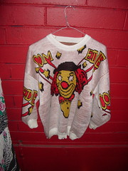 Another scary clown sweater
