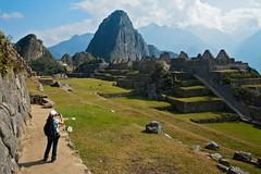 Enjoying Machu Picchu