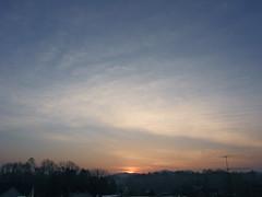 Sunrise 080410-2 (taduque) Tags: morning sky sun sunrise landscape dawn northcarolina marion daybreak morningsky firstlight tadsunrise marionsunrise dailysunrise sunrisedaily