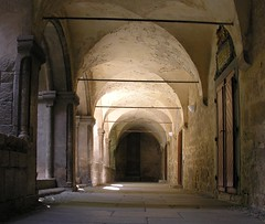 Cloister (Linda6769) Tags: door lamp stone germany beige stair peeling paint open floor decay plate ceiling aisle decke monastery cloister peelingpaint kloster boardingschool sule pforte sachsenanhalt schulpforte cistercianmonastery zimmerdecke abbltterndefarbe schulpforta pforta fusboden