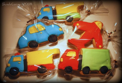 Car-trucks-plane cookies