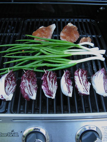 Grilled Chicken, Green Garlic & Radicchio