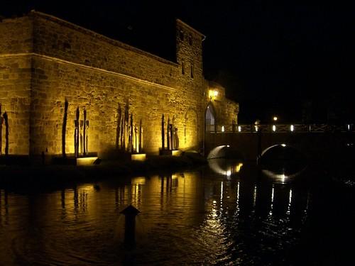 Vilbler Burg de noche