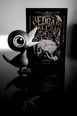 The Raven (tibau1) Tags: edgar allan poe corvo raven drinking crow darkside books medo clássico livro book libro garrafa bottle botella goró rum whisky cachaça mestre terror horror