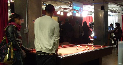 And afterwards, we shot a few games of pool. The pool table is not HD, but nobody seemed to mind.