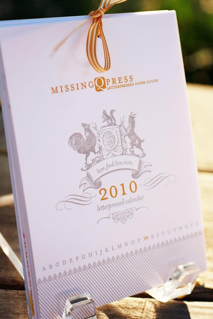 Missing Q Press 2010 Calendar