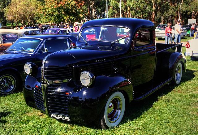 cars classics rockabilly autos hdr carshow hotrods customs 1946 kustomkulture leadsleds worldcars lardnerpark hotrodrumble 1946dodgepickup