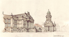 Gendarmenmarkt (Flaf) Tags: berlin pencil drawing dom karl florian barock freie friedrich schinkel berlinmitte schauspielhaus konzerthaus klassizismus franzsischer afflerbach zeichnerei