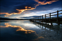 the edge (Daniel Murray (southnz)) Tags: sunset newzealand sky reflection landscape pier sand bravo scenery jetty north estuary nz southisland avon heathcote westerly norwest supershot mywinners cokinp120 southnz flickrslegend
