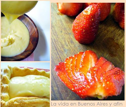 torta de morangos tres fotos