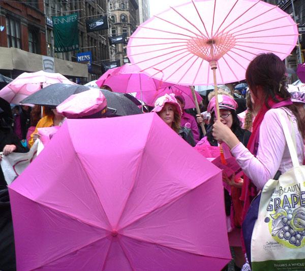 Code Pink Umbrellas