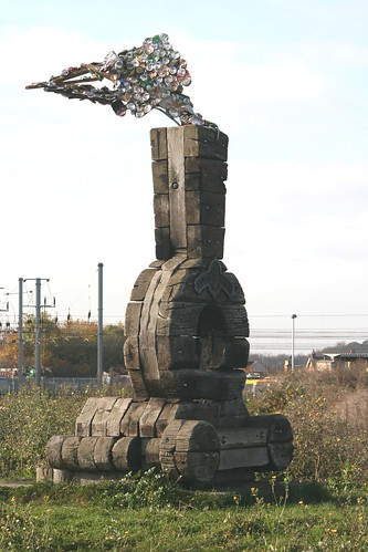 Sculpture of a Steam Train