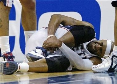 Vince Sprains Ankle