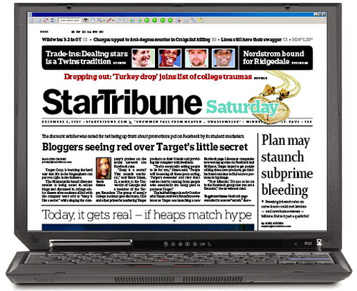 StarTribune Print Front Page