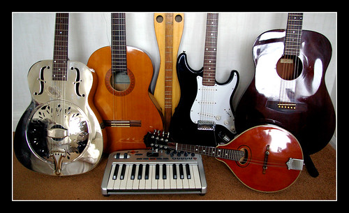 music electric guitar mandolin musical acoustic resonator dulcimer musicalinstrument guitarcollection keybooard
