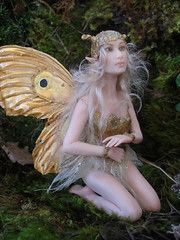 #56 Orinda ~ Golden Fairy (Nenfar Blanco) Tags: sculpture art golden doll handmade oneofakind ooak fairy fantasy faerie hada fae nenufarblanco