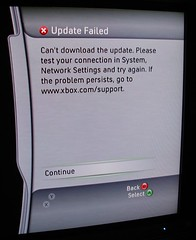 Xbox Dashboard Update Failed