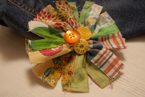 Fabric flower / Blomster i tyg made by iHanna #DIY