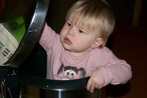 Maud in de vuilbak