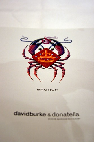 Davidburke & Donatella's brunch menu cover