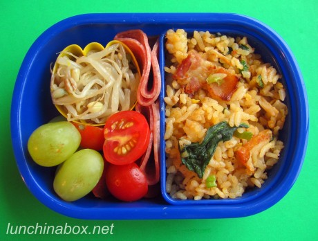 Fried rice bento lunch for preschooler