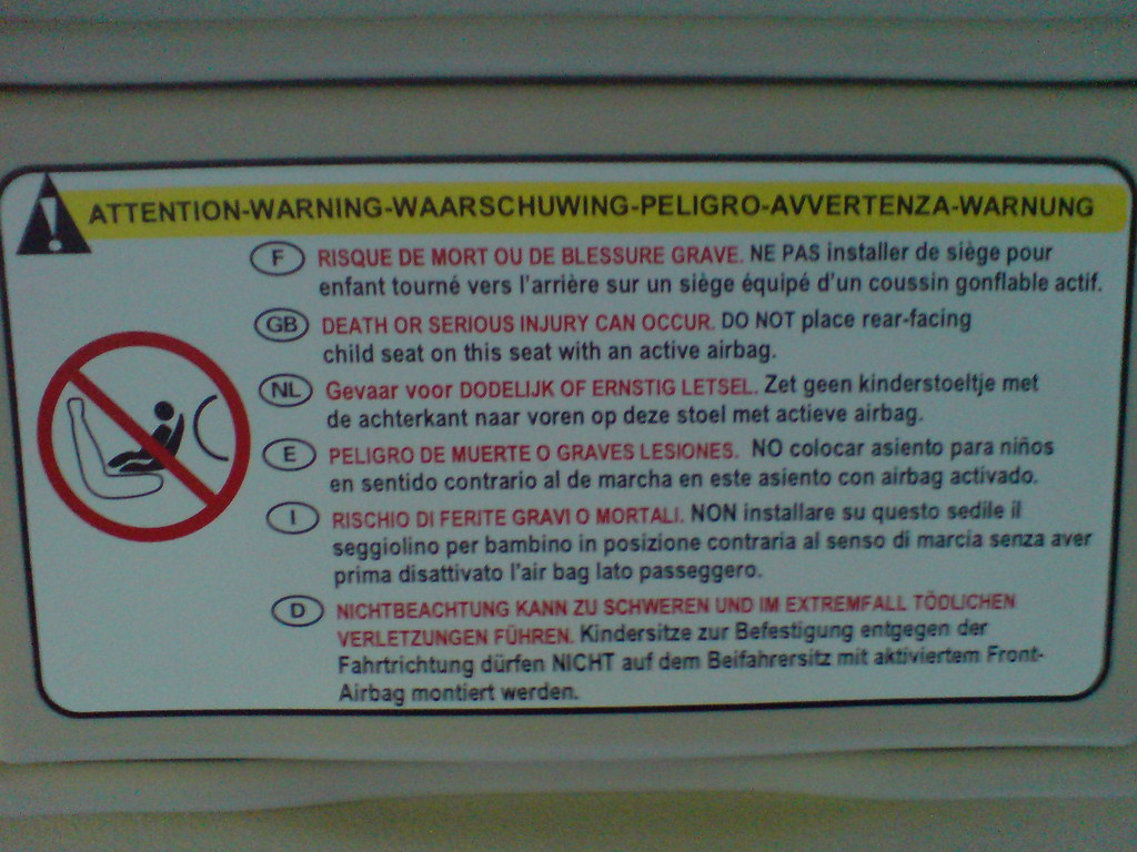 rear facing car seat instructions