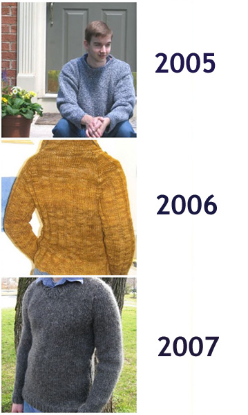 Kris's Sweaters Chronologically
