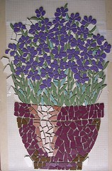 Lavender brush in a planter (stiglice - Judit) Tags: mosaic signboard mosaique mozaiek mozaik