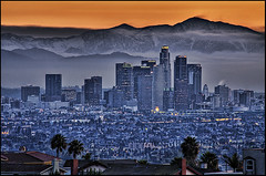 LA Dawn (Nick  Carlson) Tags: mountains skyline sunrise photography dawn la losangeles carlson nick mountbaldy hdr highdynamicrange hdri kennethhahnpark tonemapped aplusphoto holidaysvacanzeurlaub nickcarlson truelifeimages nickcarlsonphotography